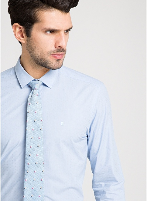 Pierre Cardin Klasik Gömlek Mavi